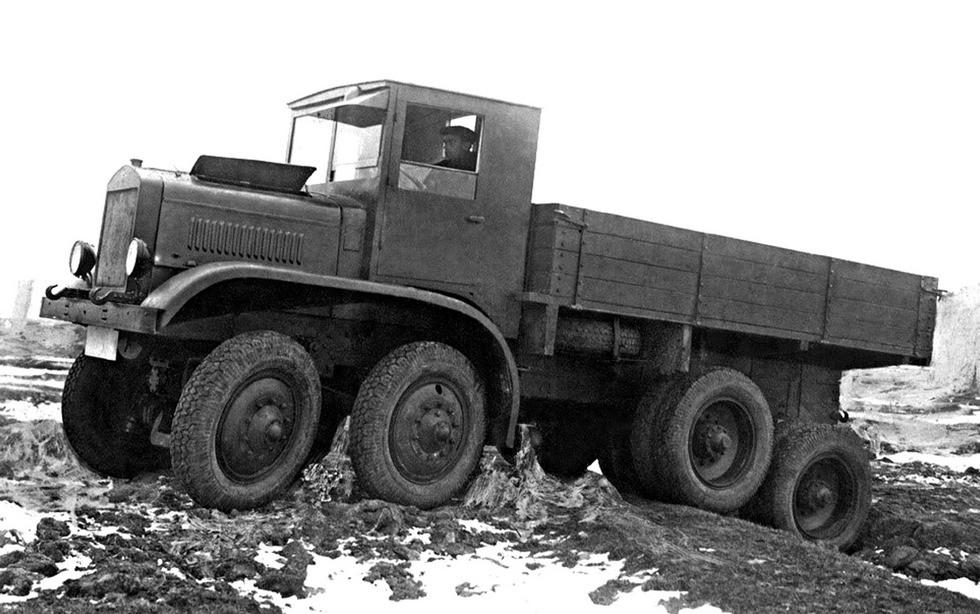 Испытания 12-тонного полноприводного автомобиля ЯГ-12