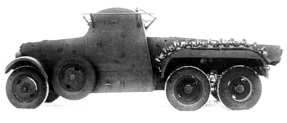 Химическая бронемашина КС-18 на шасси ЗИС-6 (из архива полигона РККА)