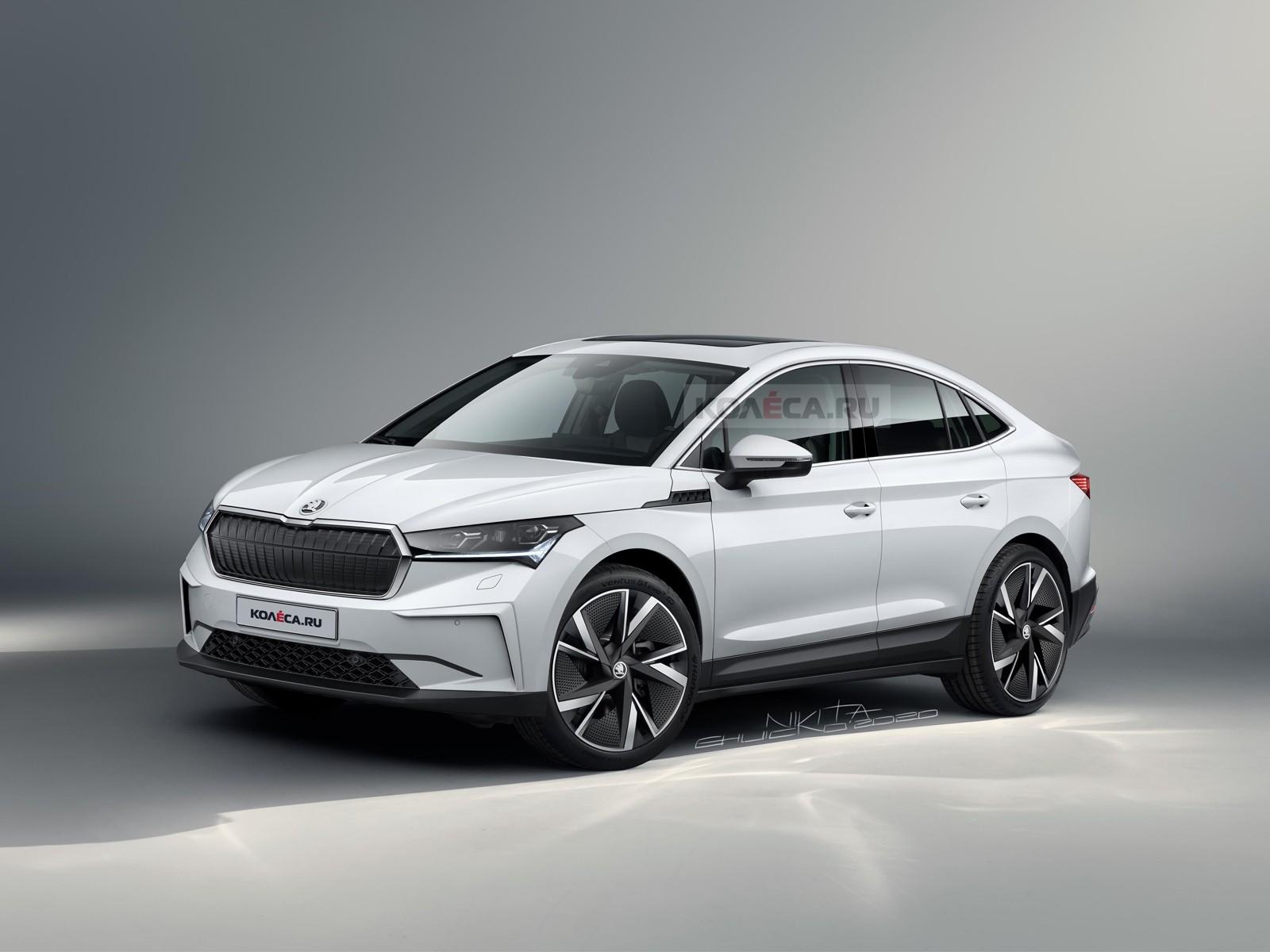 Новое кросс-купе Skoda Enyaq iV: первые изображения
