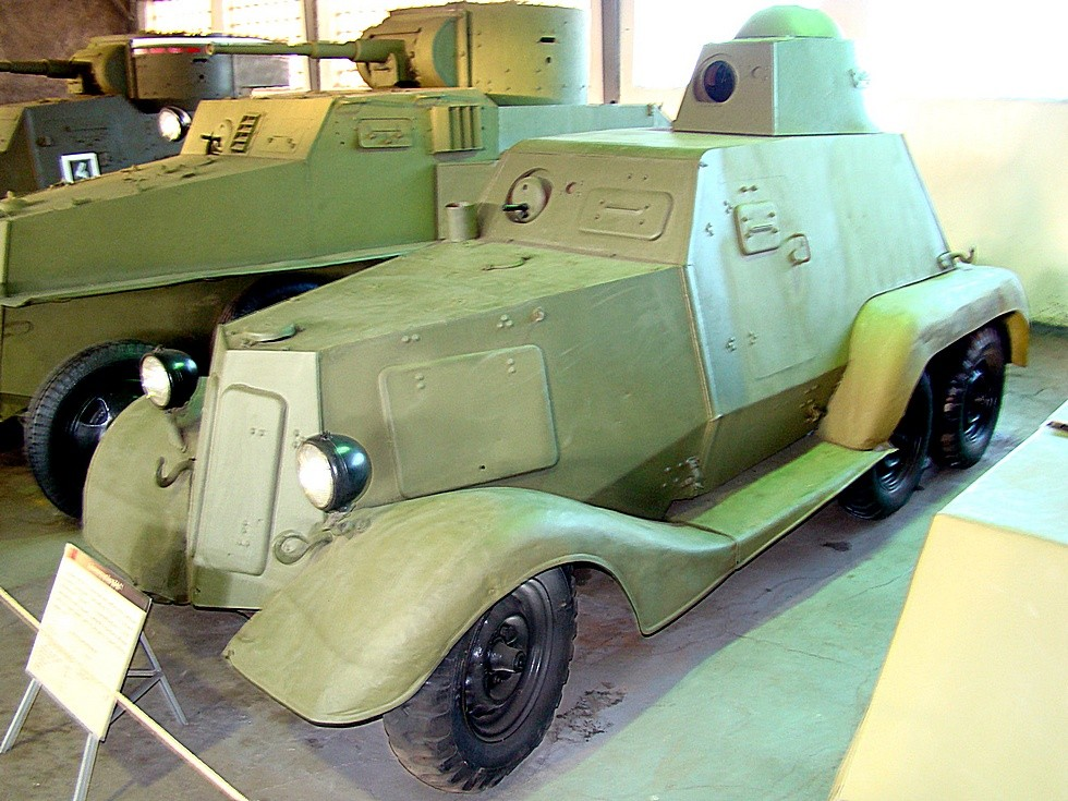 Бронемашина БА-21, сохранившаяся в Музее бронетехники в Кубинке