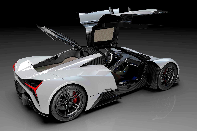 Elation Freedom: американский конкурент Rimac, но с бензиновым V10 в виде опции