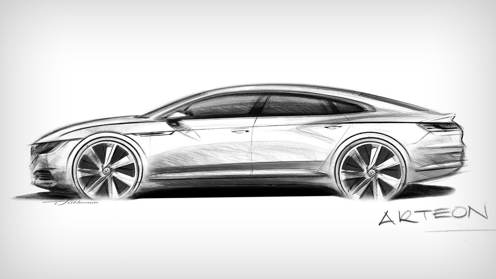 Дизайн-скетч Volkswagen Arteon