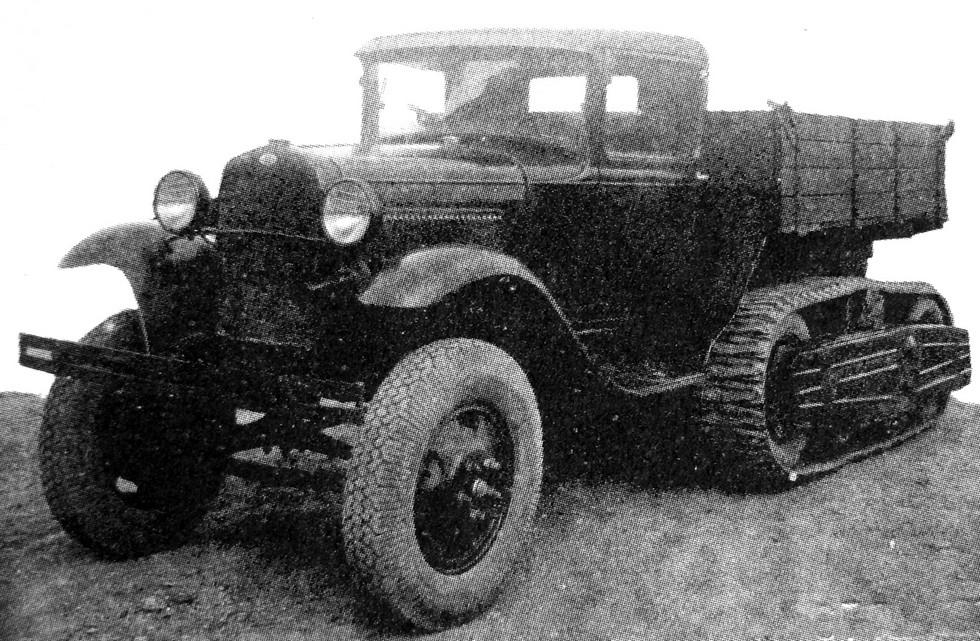 Опытный грузовик НАТИ-В — предшественник серийной машины ГАЗ-60 (из коллекции А. Кириндаса)
