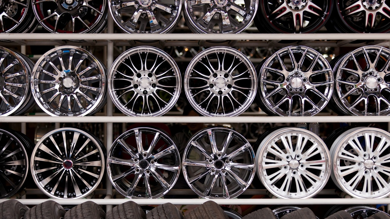 alloy car wheels wall