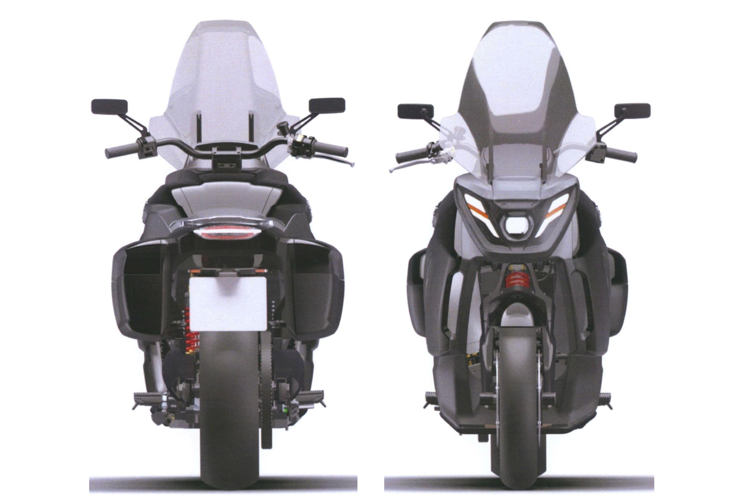 Патентные изображения мотоцикла Aurus: обычный турист вместо «ракеты Бэтмена»