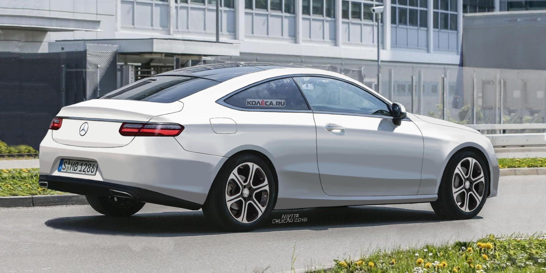 Merc E Coupe-rear2