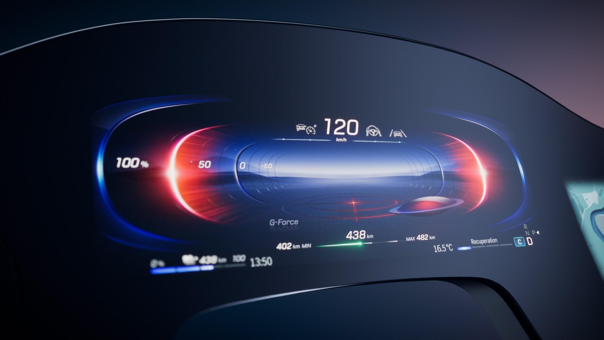 «Приборка» электрического флагмана Mercedes-Benz: 141 см в ширину и 12 вибраторов