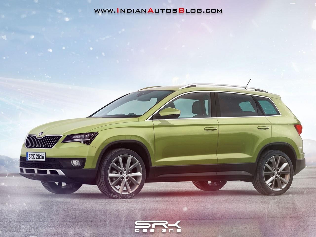 Skoda-compact-SUV-rendering