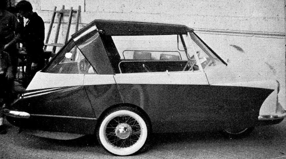 Французский ромбокар Vannod с центральным расположением рулевой колонки. 1958 год