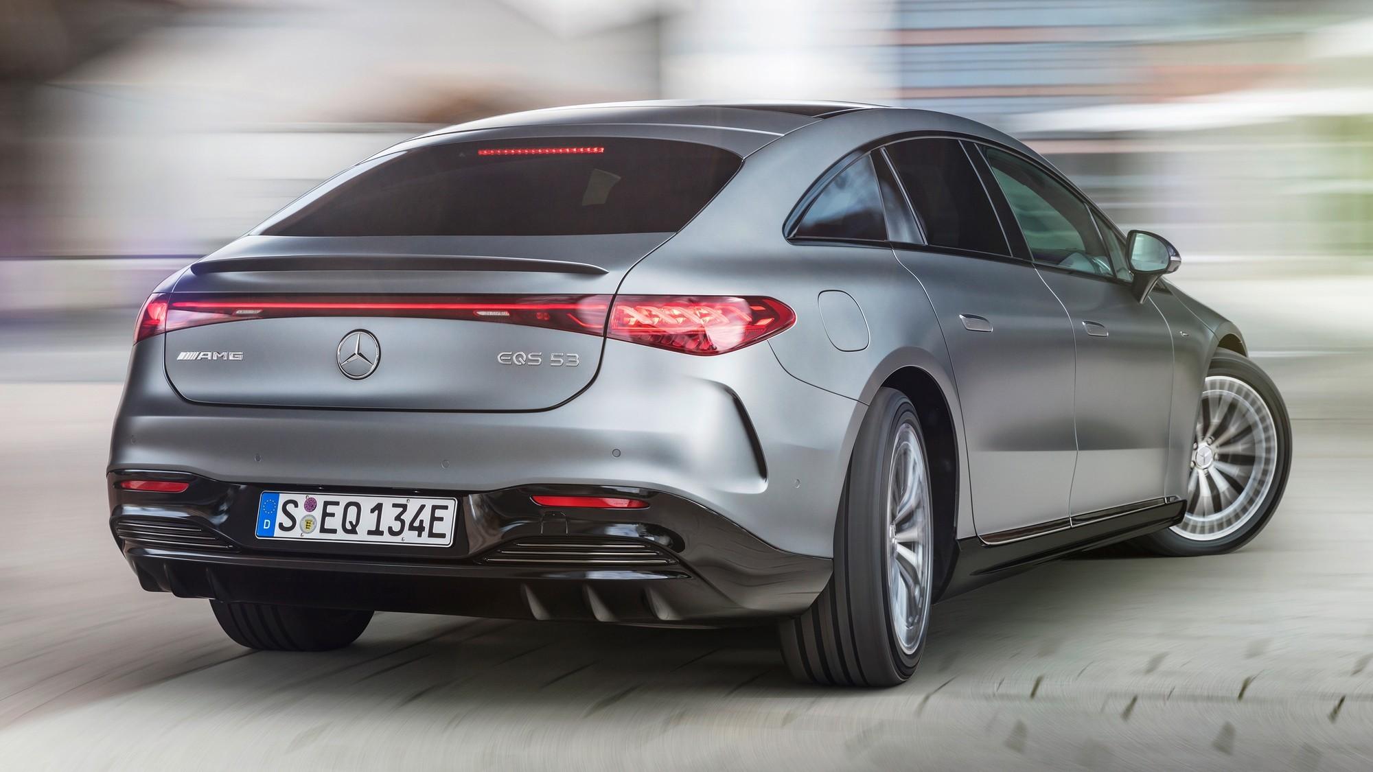 Электрический Mercedes-AMG EQS: намного медленнее, чем Tesla Model S Plaid