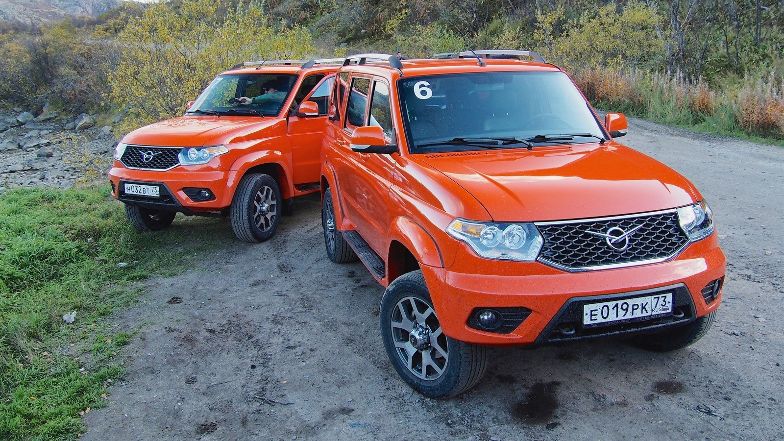 УАЗ Патриот оранжевый