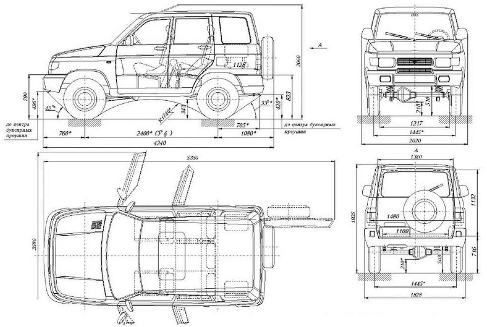 чертеж УАЗ 3160