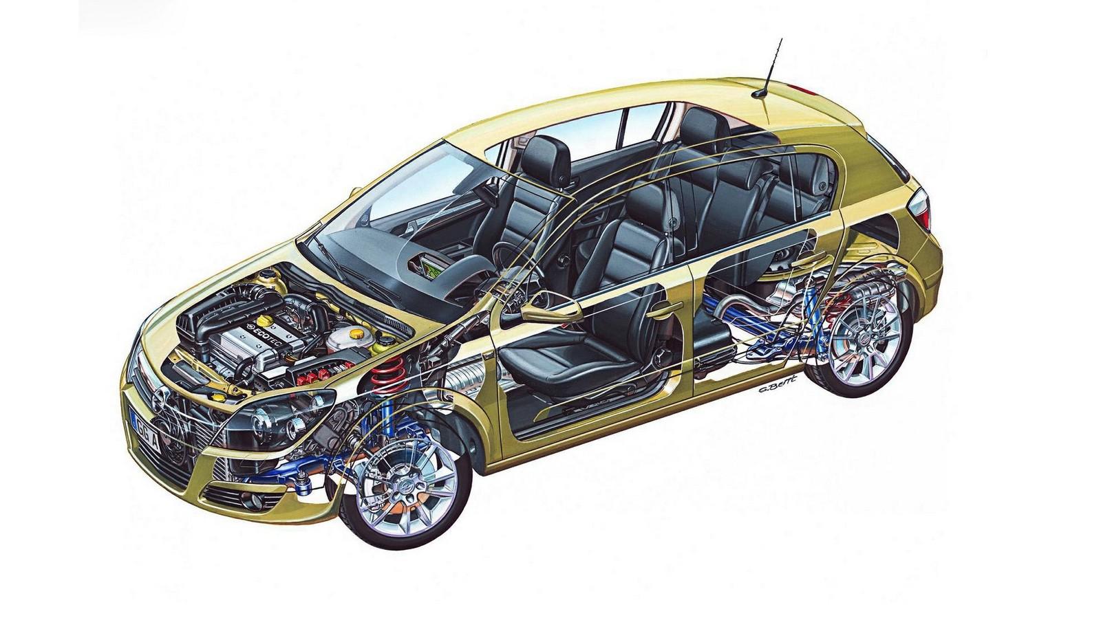 На фото: Opel Astra Hatchback (H) '2004–07