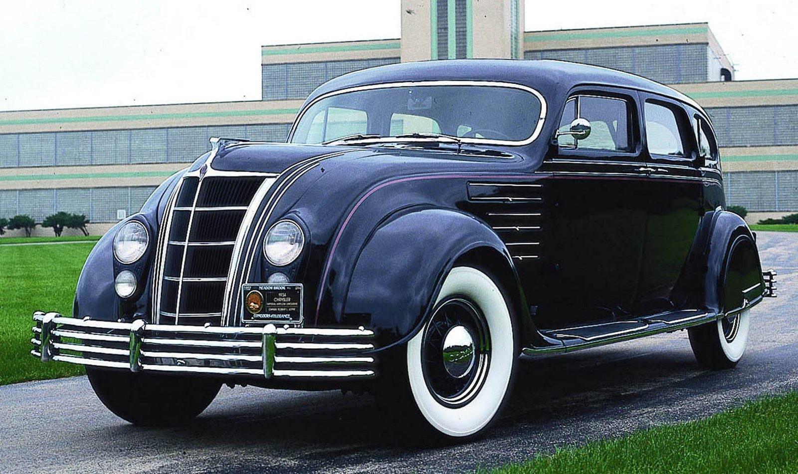 Американский аэродинамичный автомобиль Chrysler Airflow. 1934 год