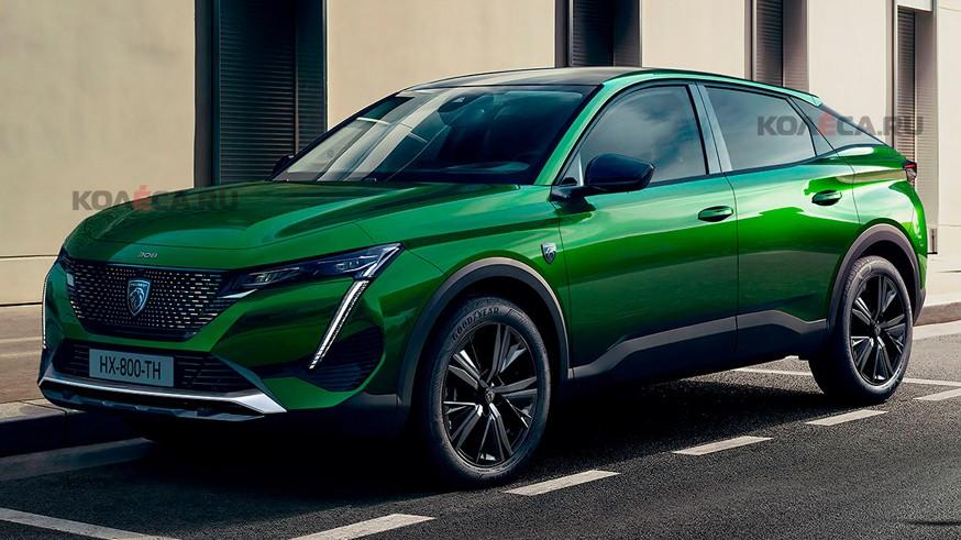 Peugeot готовит конкурента Renault Arkana: первое изображение нового кроссовера