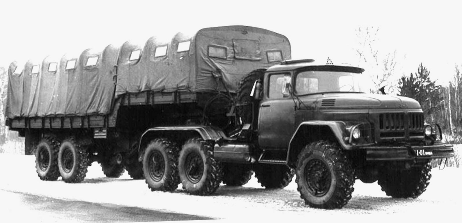 Прототип активного автопоезда ЗИЛ-137 с гидростатическим приводом (из архива СКБ ЗИЛ)