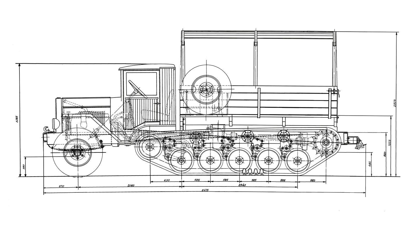 Колёса, гусеницы и два мотора: забытые советские экспериментальные тягачи АТ