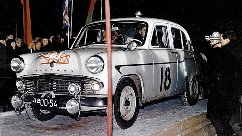 На фото: Москвич-403 в ралли Monte Carlo 1964