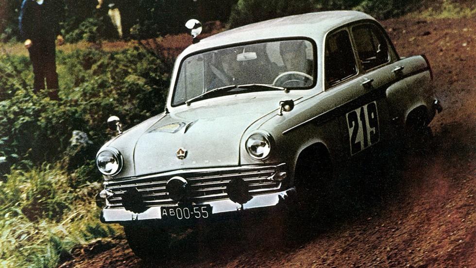 На фото: Москвич-403ИЭ в ралли Midnight Sun 1964