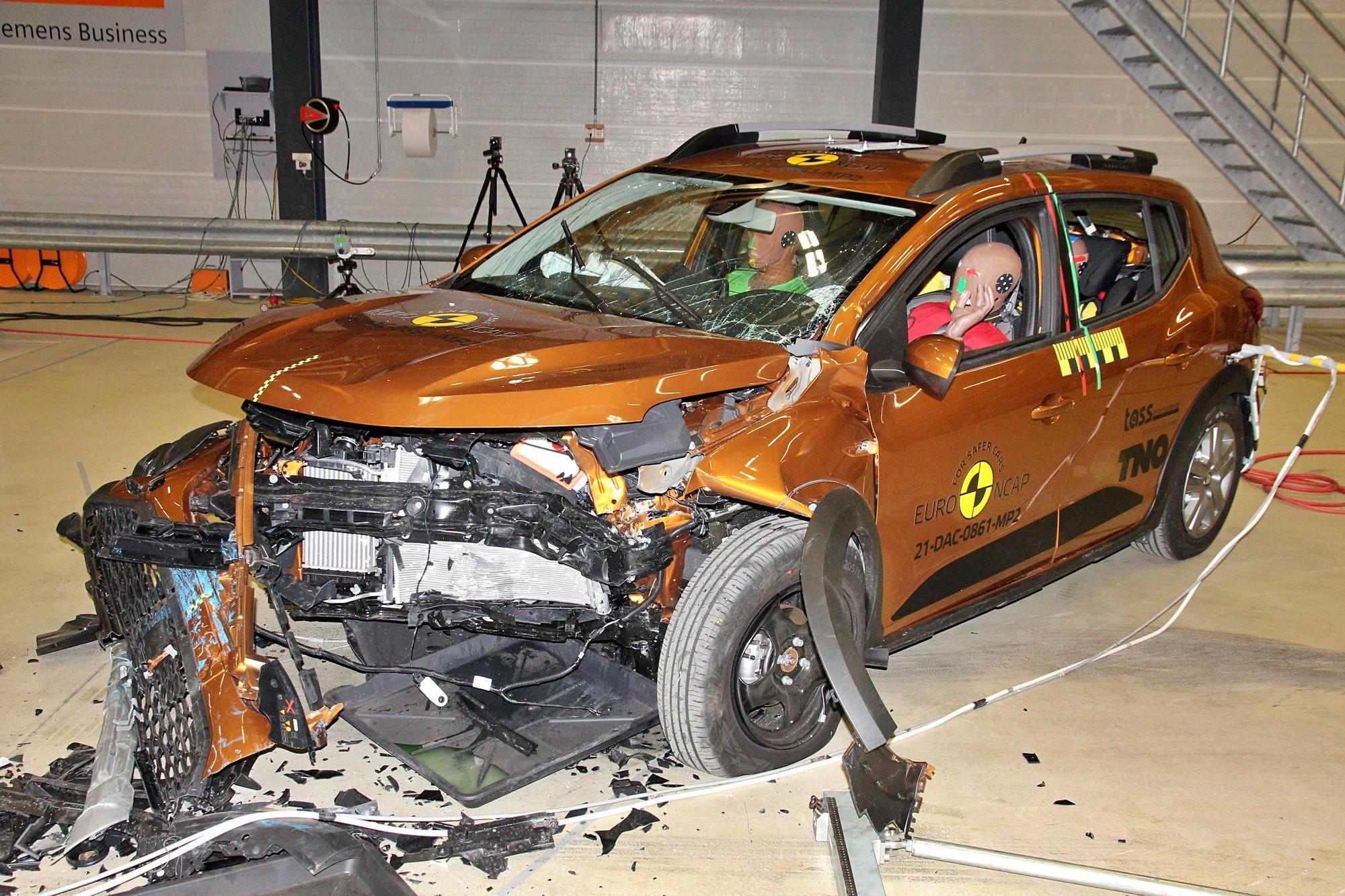 Новые Dacia Logan и Sandero на испытаниях Euro NCAP: «двойка» на двоих