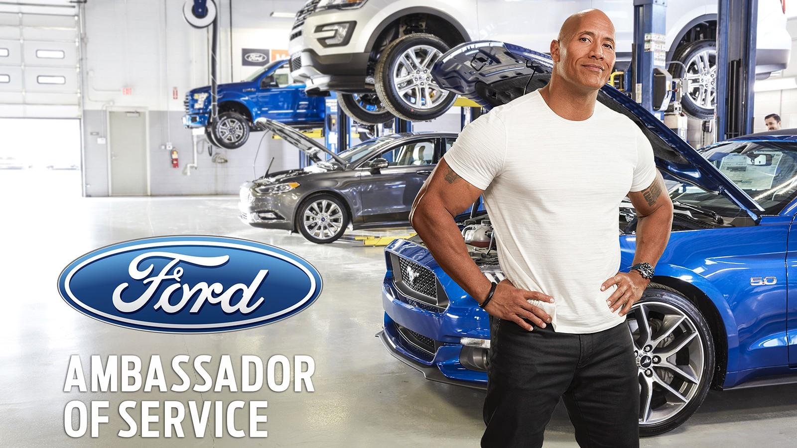 Dwayne Johnson — Ford Ambassador of Service