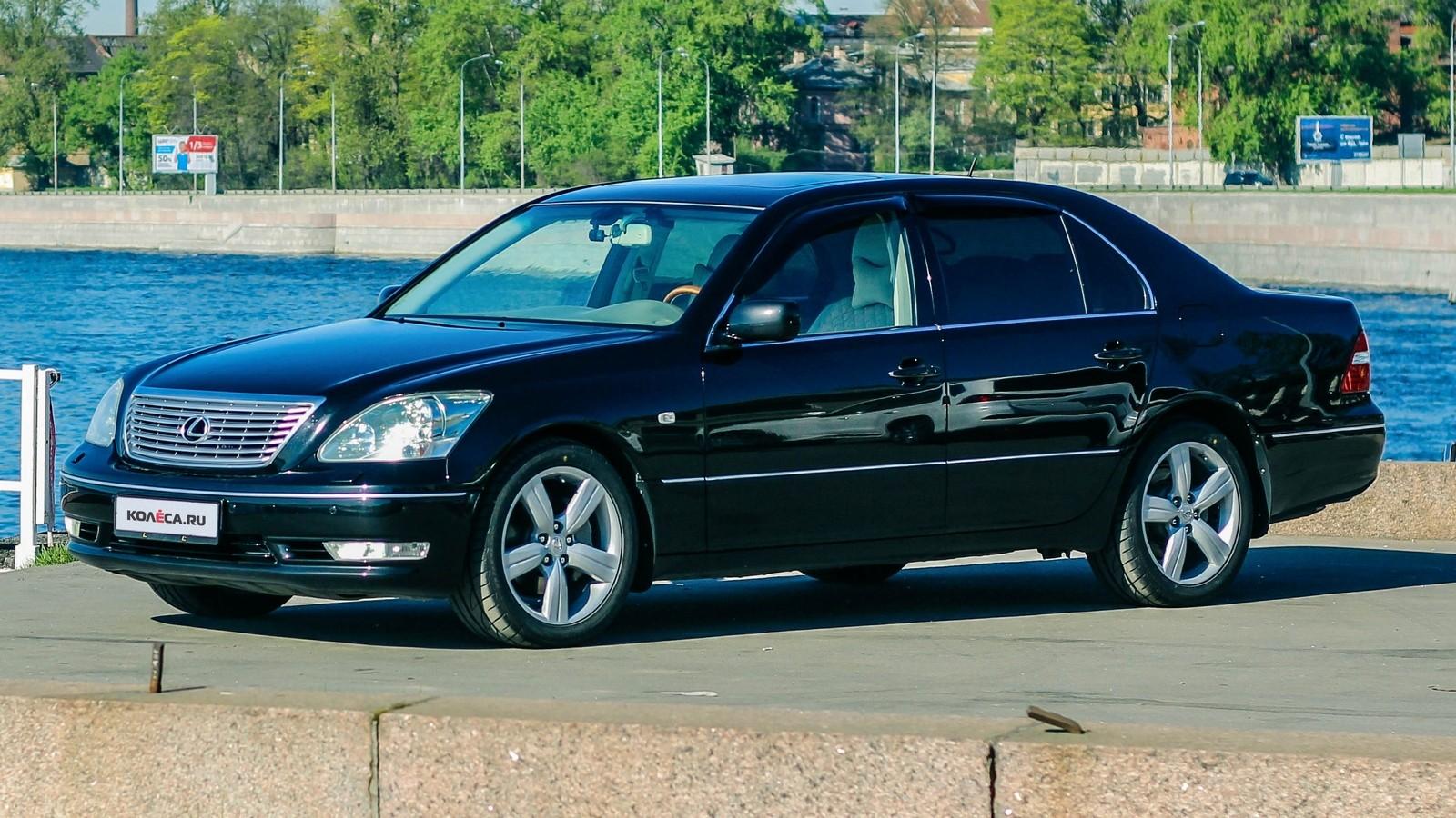 Lexus LS430 черный три четверти (1)