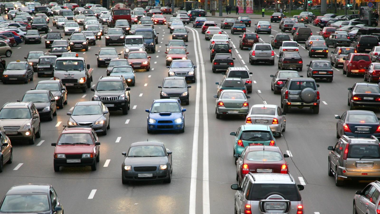 many cars on road