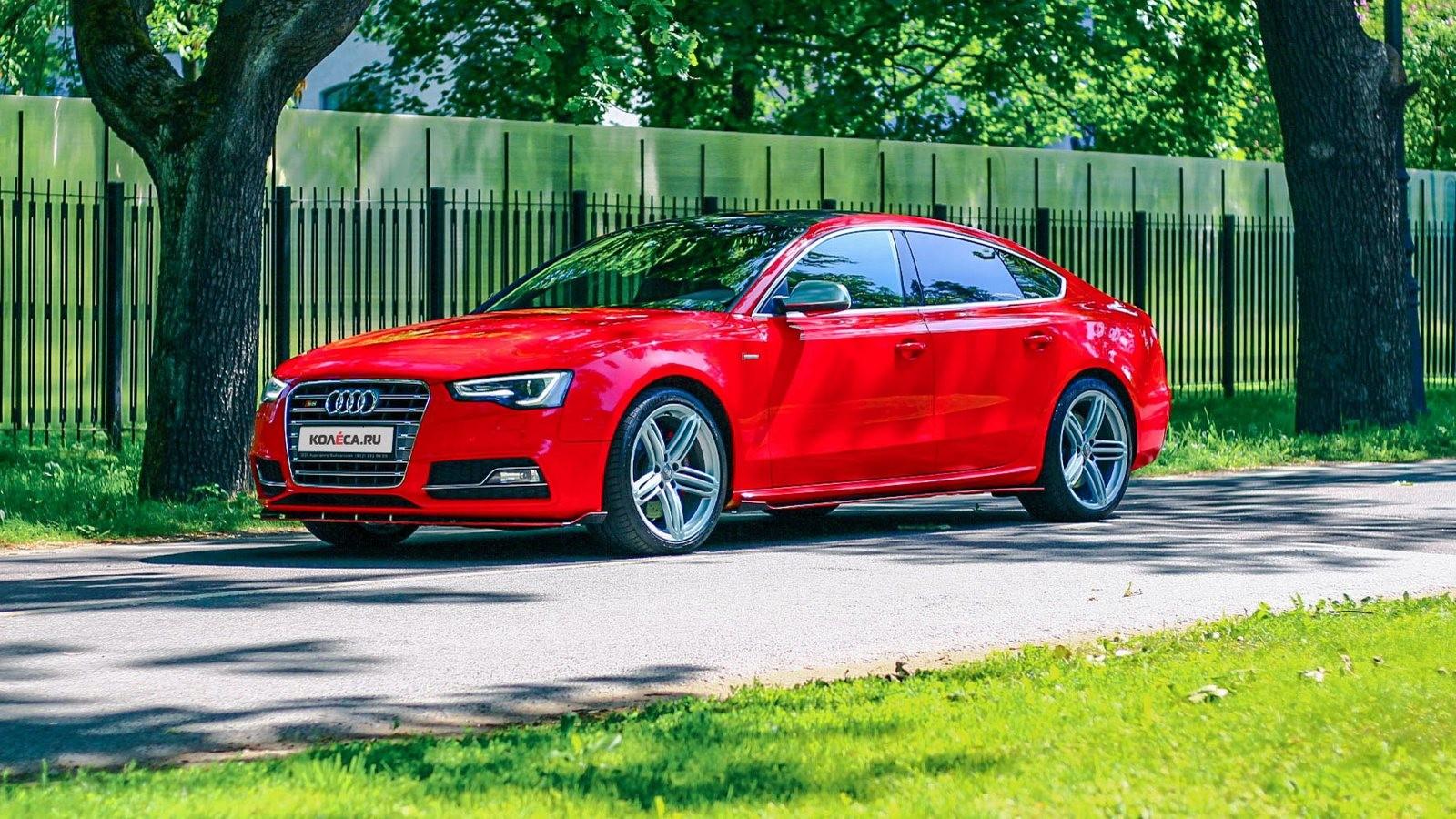 Audi A5 Sportback красная три четверти