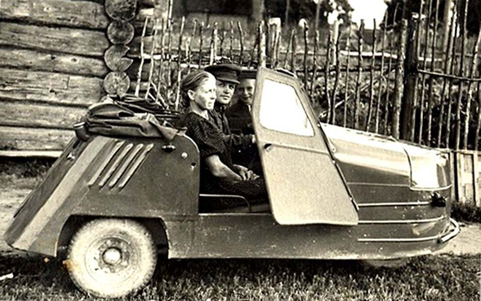 мотоколяска СМЗ С-1Л. 1953 год
