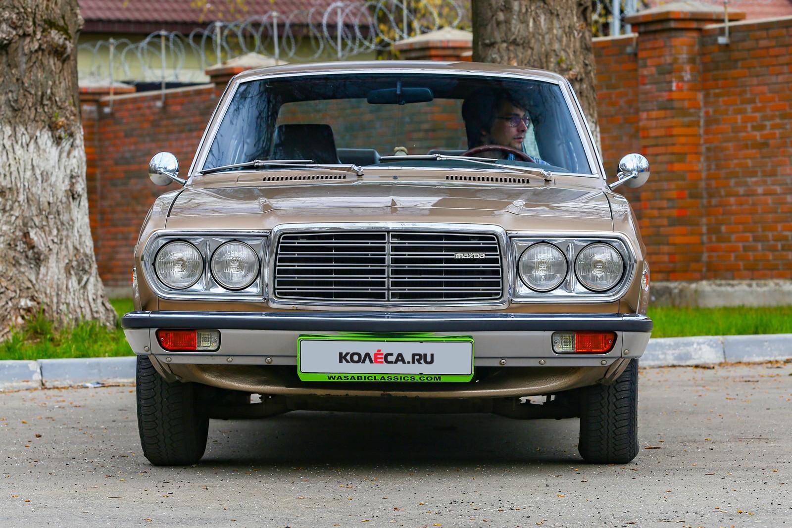 Mazda 929 коричневая вид спереди
