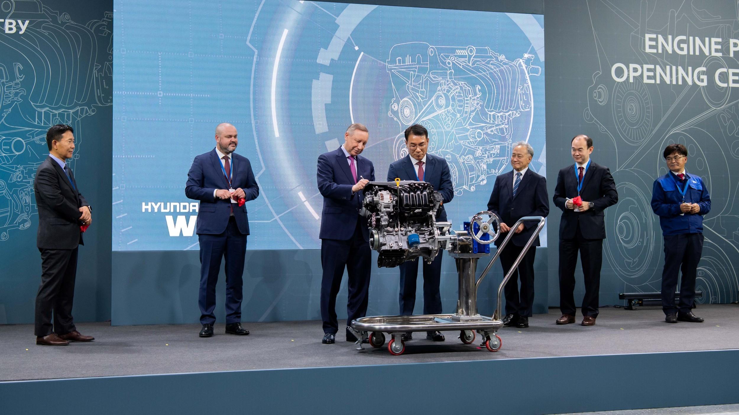 Hyundai запустила в Санкт-Петербурге моторный завод с большим запасом мощности