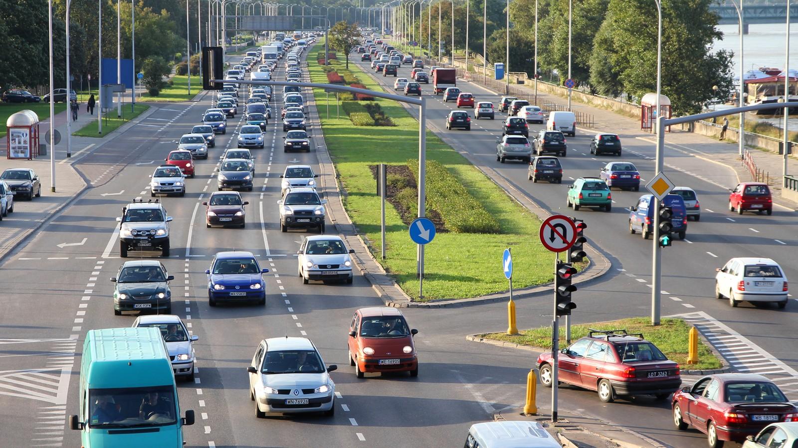 Warsaw traffic congestion
