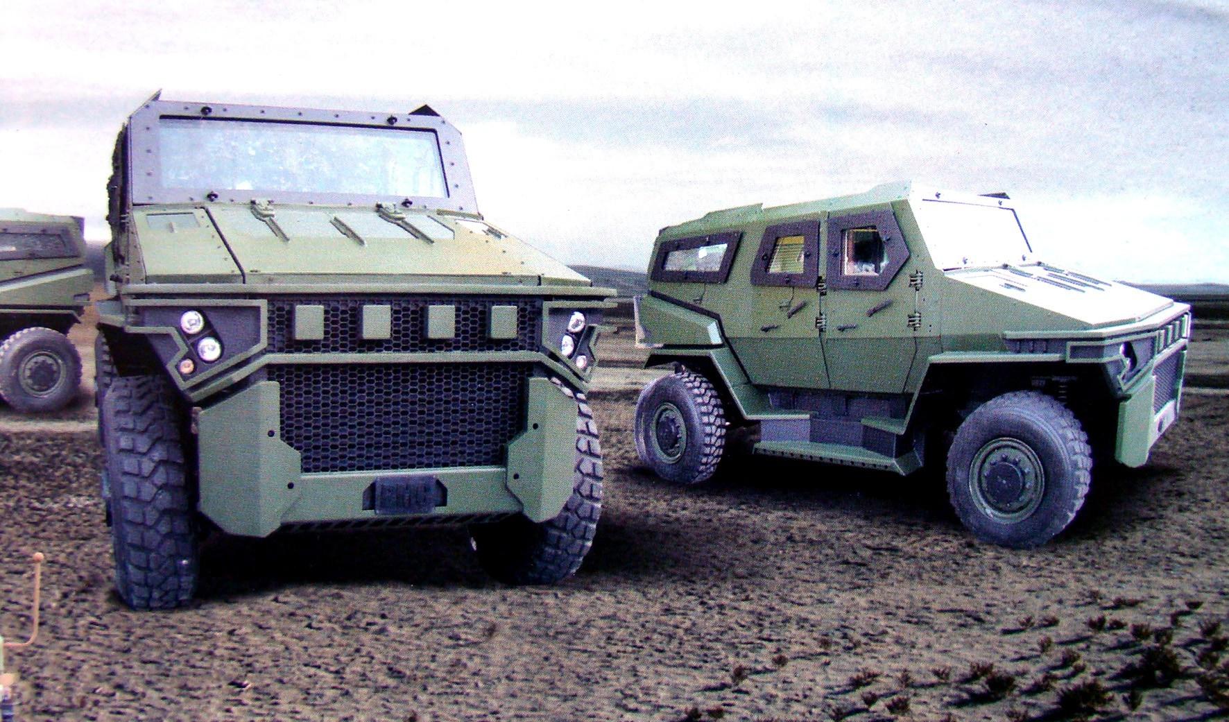 Легкая бронемашина ВМС 250-10Z Vuran с 4-дверным бронекорпусом