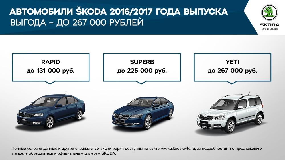 Специальные предложения для владельцев SKODA в апреле  (1)