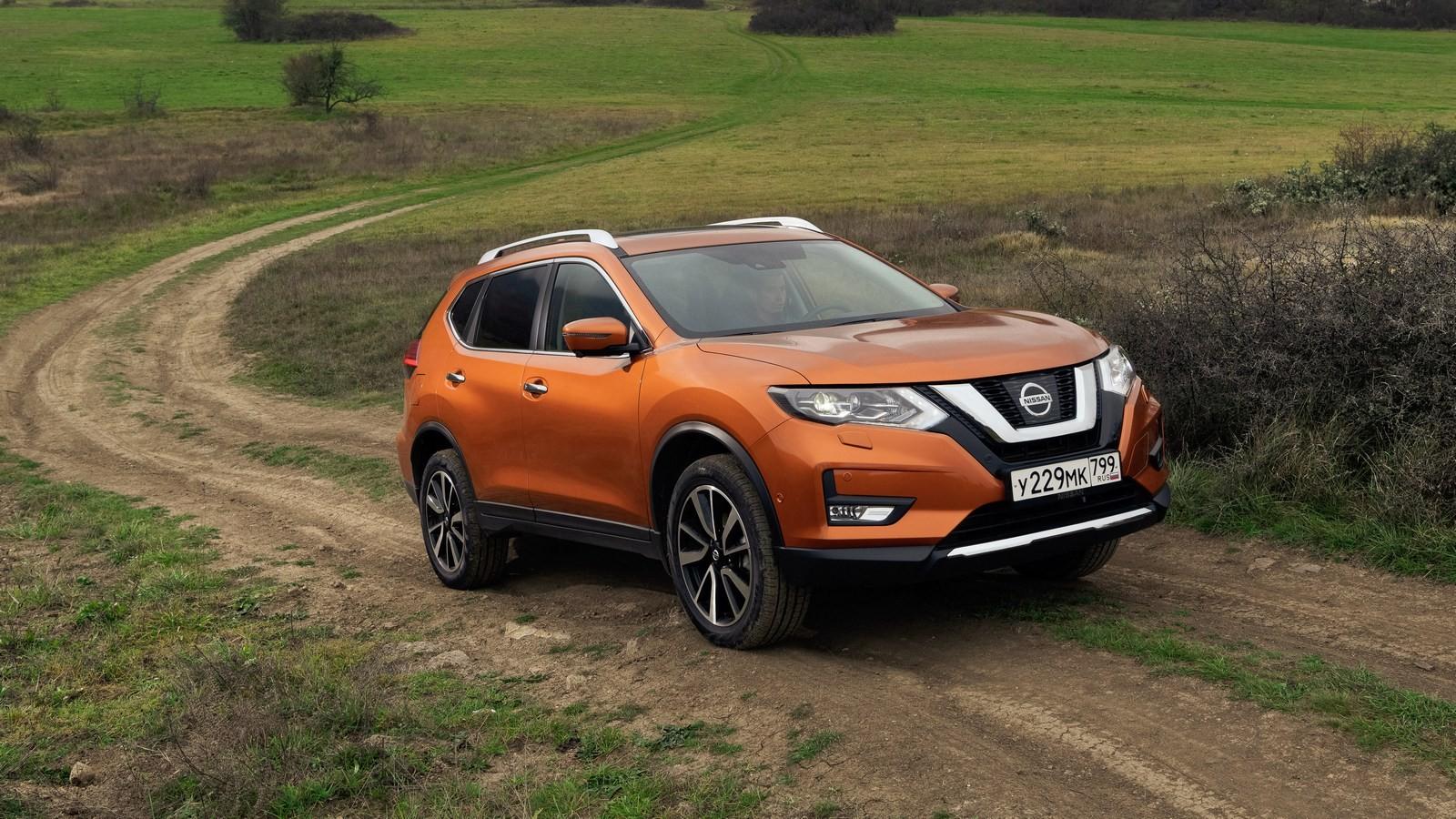 Nissan X-trail оранжевый