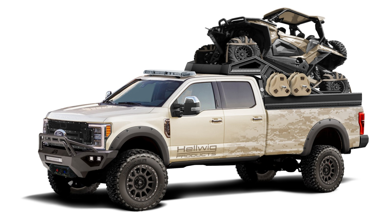 2017 Ford Super Duty F-350 Lariat created by Hellwig Suspension