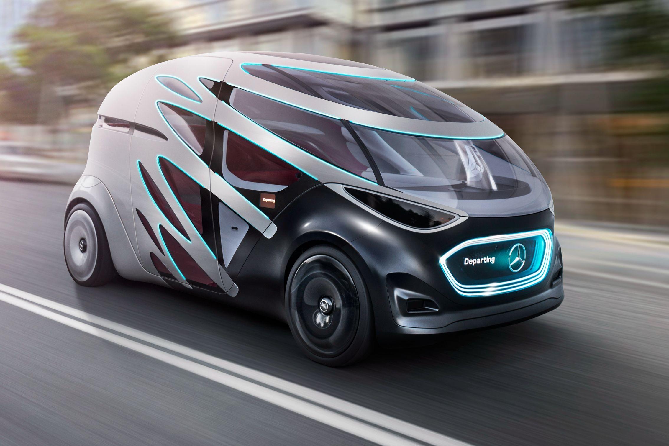 Беспилотный автомобиль-яйцо – таким видят будущее дизайнеры Mercedes-Benz.