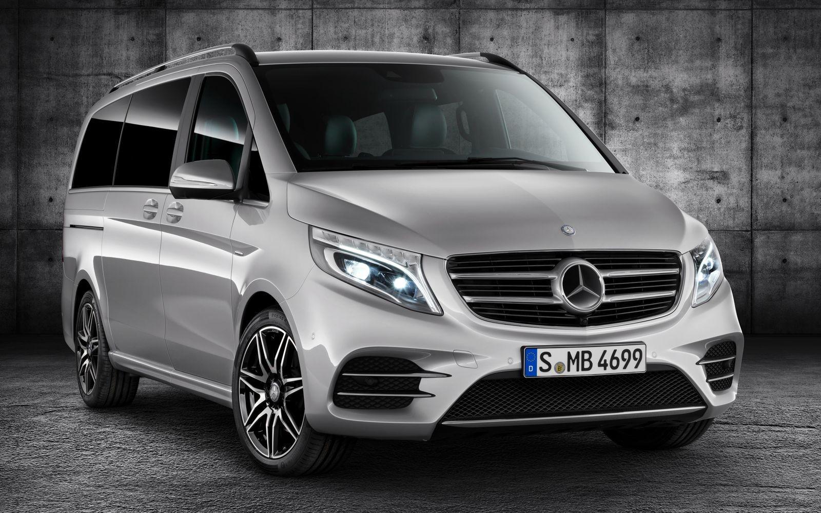 Mercedes-Benz V-класса третьего поколения до рестайлинга.