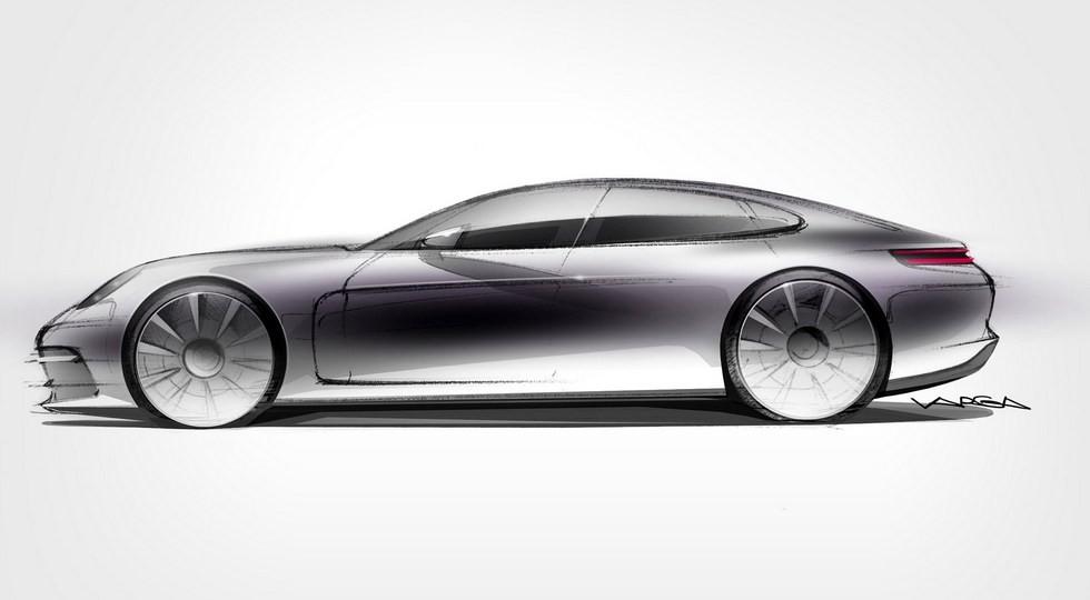 Официальный дизайн-скетч Porsche Panamera нового поколения