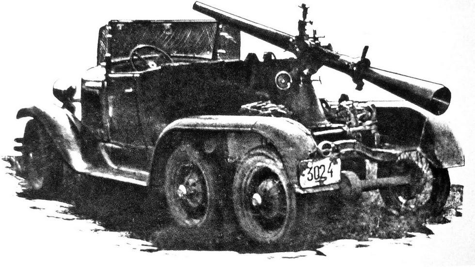 Самоходная артиллерийская установка СУ-4 с безоткатной пушкой ДРП-4