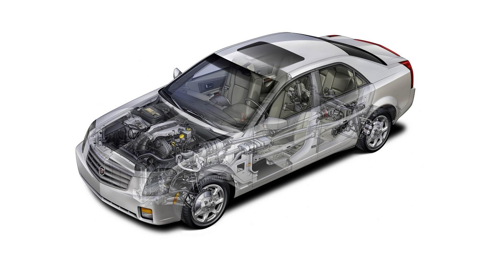 Cadillac CTS North America '2002–07 схема автомобиля