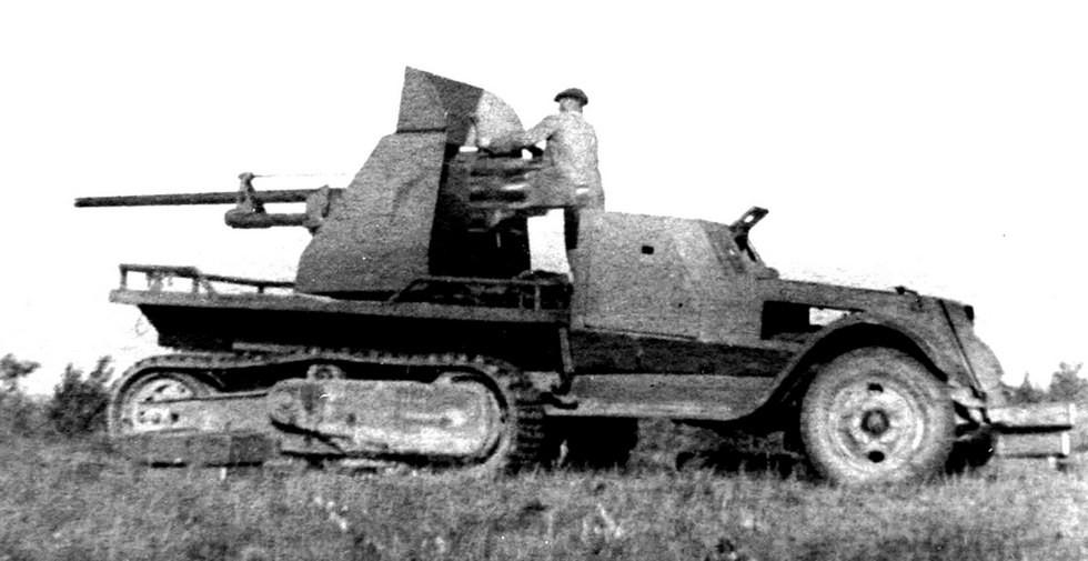 Пробные стрельбы из противотанковой пушки ЗИС-2 установки ЗИС-41