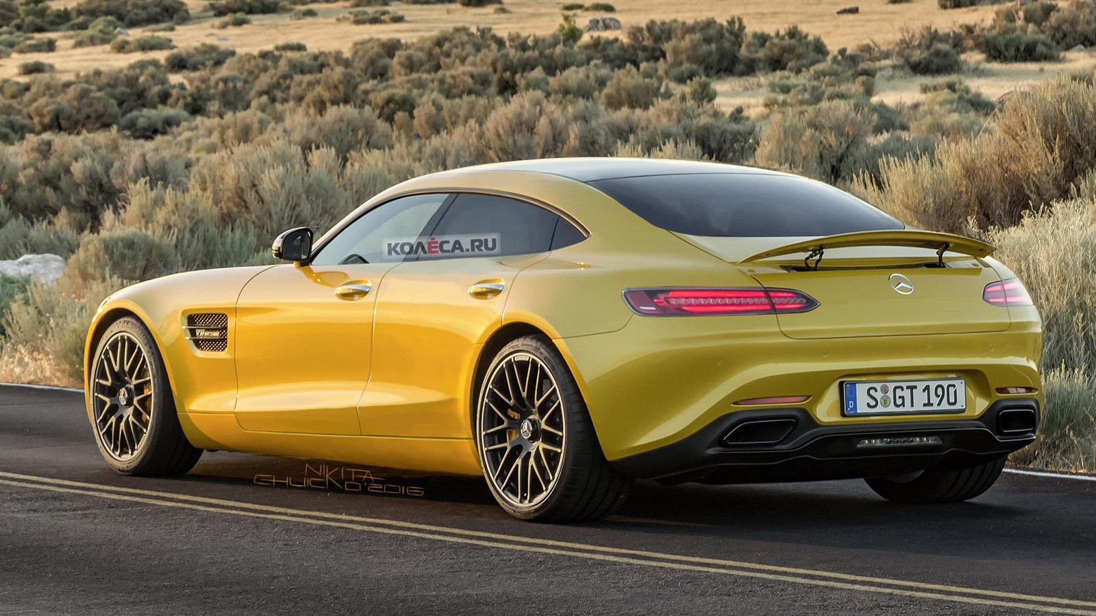 Mercedes-AMG GT 4-door rear-1