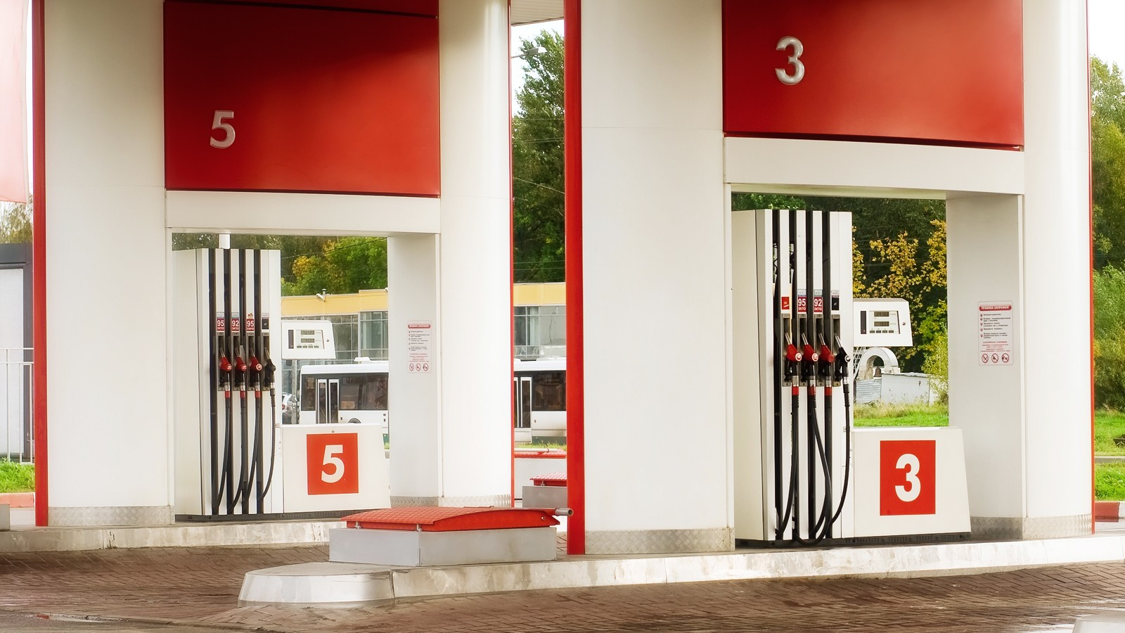 Empty petrol station
