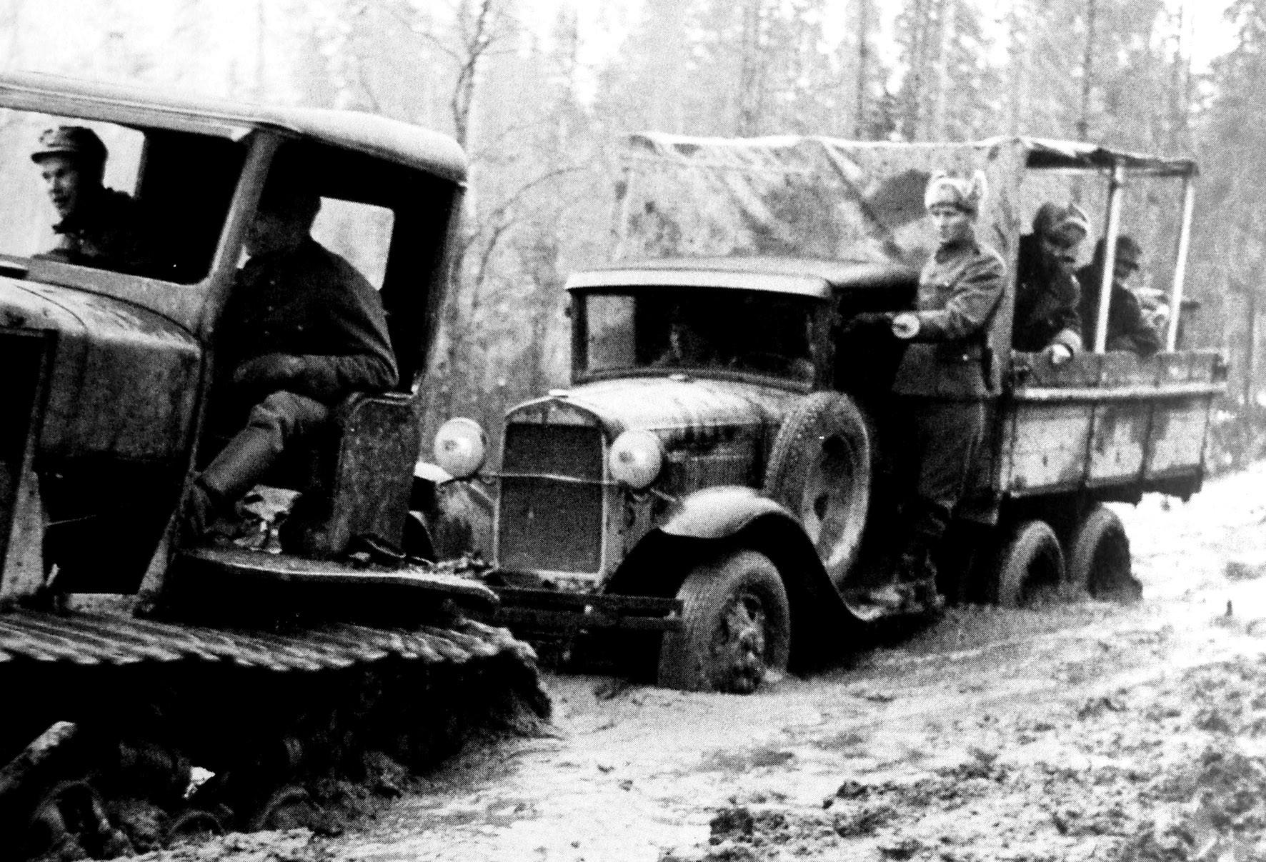 ГАЗ-ААА на Советско-финляндской войне (из фондов Военного музея в Хельсинки)