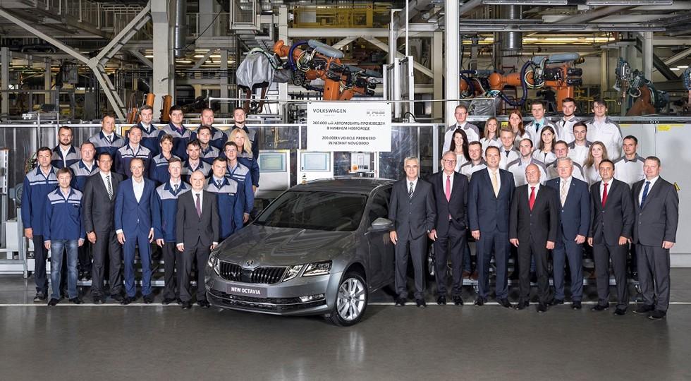 Важная веха — 200-тысячным автомобилем, произведенным на заводе в Нижнем Новгороде, стала SKODA OCTAVIA