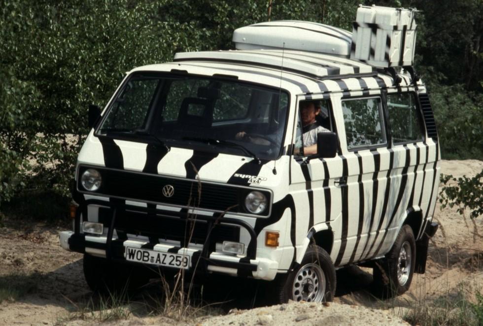 На фото: Volkswagen T3 Transporter Syncro Safari '1985