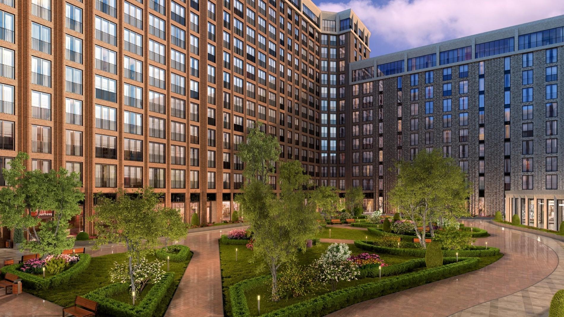 Зелёный двор –это хорошо, но высокие бетонные коробки создают ощущение духоты даже на картинке.