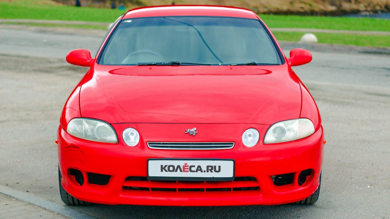 Toyota Soarer красная спереди