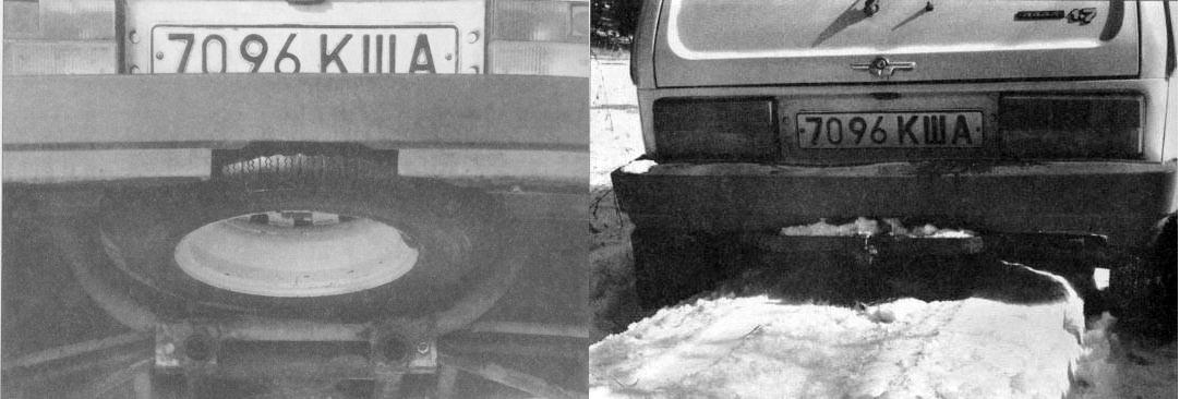 Запасное колесо на прототипе установили под багажником. Обратите внимание на задние фонари – они от семёрки.